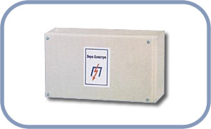 The box for the electric potential equilibration